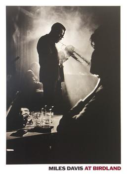 Miles Davis - live in Birdland - плакат (poster)