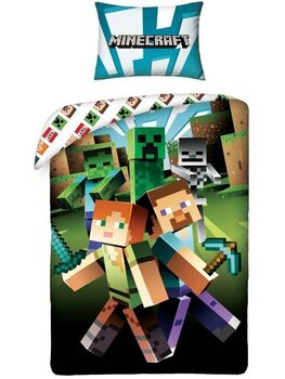 Bettwäsche Minecraft - Alex and Steve