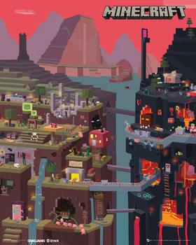 Minecraft - world  - плакат (poster)