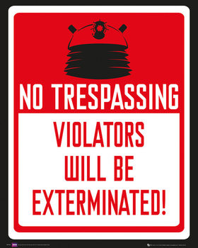 DOCTOR WHO - keep out Mini plakat