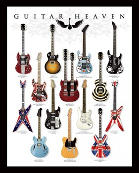 Guitar heaven Mini plakat