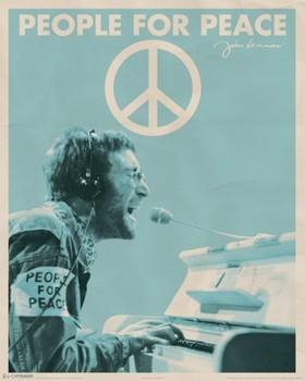 John Lennon - people for peace Mini plakat