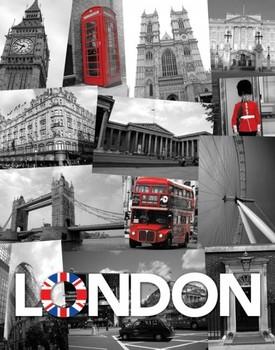 Londen - union jack Mini plakat