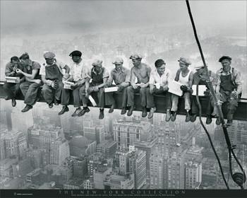 New York - men on girder Mini plakat