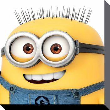 Leinwand Poster Minions (Despicable Me) - Jerry Close Up