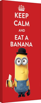 Leinwand Poster Minions (Despicable Me - Keep Calm
