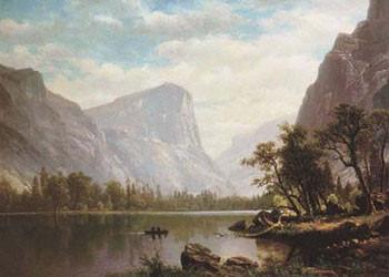 Mirror Lake, Yosemite Valley Festmény reprodukció