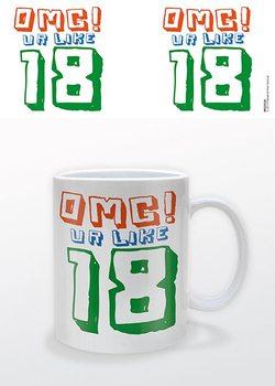 Verjaardag - OMG UR 18! mok