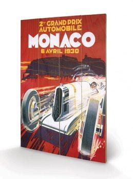 Målning på trä Monaco - 1942
