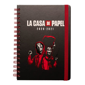 Σημειωματάριο Money Heist (La Casa De Papel) - A5 Diary 08.2020/07.2021