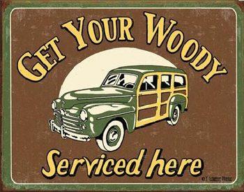 MOORE - WOODY SERVICE Metalen Wandplaat