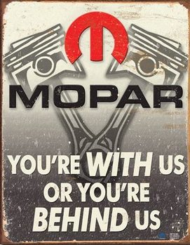 Mopar - Behind Us Metalen Wandplaat
