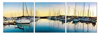 Morning in harbor Modern tavla