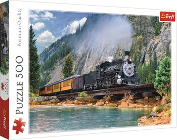 Puzzel Mountain Train