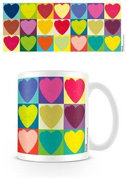 Alla hjärtans dag - Pop Art Hearts muggar
