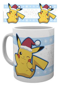 Pokemon - Pikachu Santa muggar