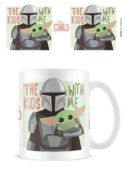 Mugg Star Wars: The Mandalorian - The Kids With Me