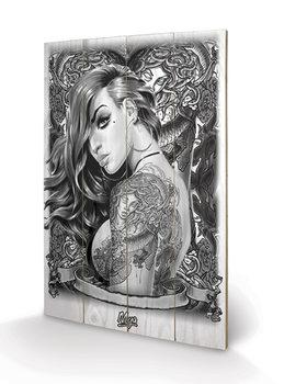 Bild auf Holz Mya - Tattoo