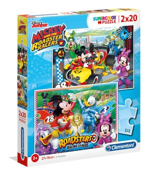 Puzzle Myszka Miki (Mickey Mouse) - The Roadster Racers