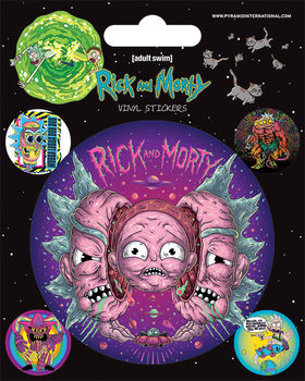 Naklejka  Rick and Morty - Psychedelic Visions