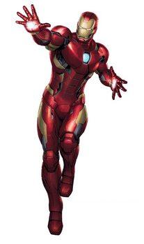 Nalepka MAXI Marvel - Iron Man