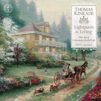 Thomas Kinkade - Lightposts for Living naptár 2022