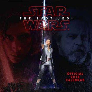 A Csillagok háborúja VIII: Az utolsó Jedik  naptár 2018