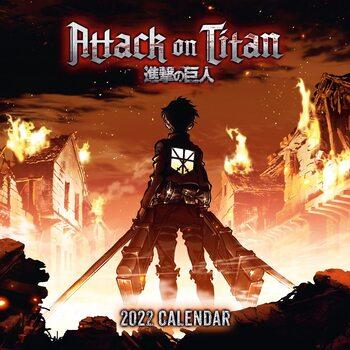 Attack on Titan naptár 2022