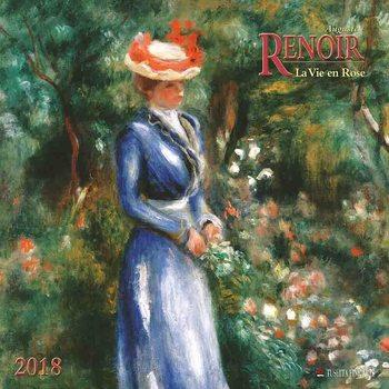 Auguste Renoir - La Vie en Rose naptár 2020