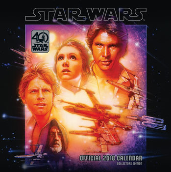 Csillagok háborúja 40th Anniversary naptár 2018