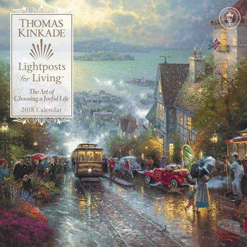 Thomas Kinkade - Lightposts for Living naptár 2020