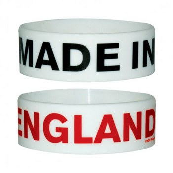 MADE IN ENGLAND Náramok silikonove