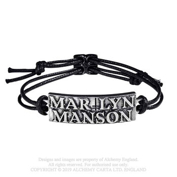 Marilyn Manson - Logo Náramok silikonove