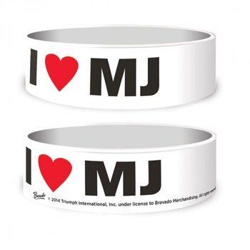 Michael Jackson - I Love MJ Náramok silikonove