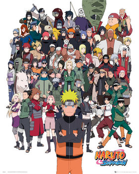 Naruto Shippuden - Group - плакат (poster)