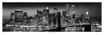 New York - Manhattan black - плакат (poster)