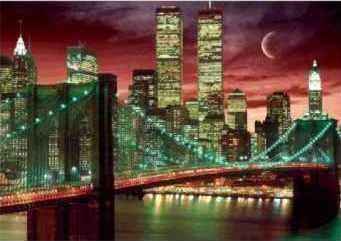 NEW YORK - skyline colour 3D - плакат (poster)