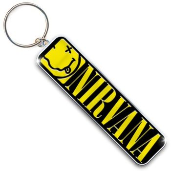 Nirvana - Smiley & Logo Nøglering