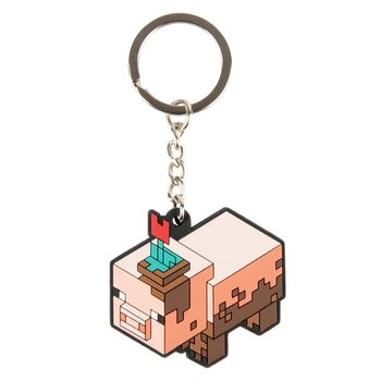 Minecraft - Earth Muddy Pig Nøkkelring