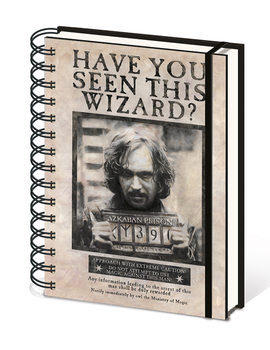 Harry Potter - Wanted Sirius Black Notatbok