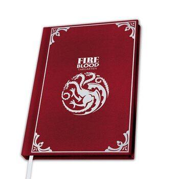 Notatnik Gra o tron - Targaryen