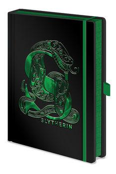 Notatnik Harry Potter - Slytherin Foil