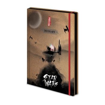Notesbøger Diary 2021 - Star Wars - Japanese (EN)