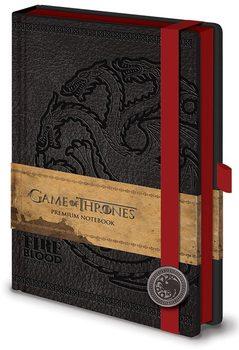 Game of Thrones - Targaryen Premium A5 Notebook Notesbøger