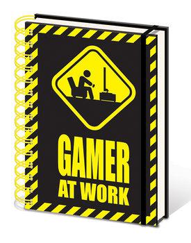 Gamer At Work Notesbøger