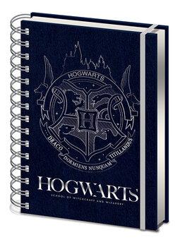 Notesbog Harry Potter - Cobalt Steel Crest