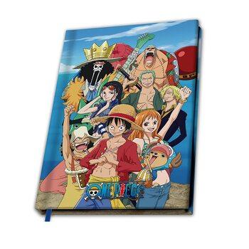 Notesbog One Piece - Straw hat Crew