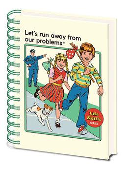 Notitieblok Steven Rhodes - Let's Run Away From Our Problems