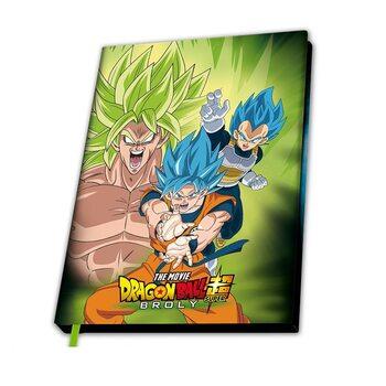 Notitieschrift Dragon Ball - Broly vs Gokus & Vegeta