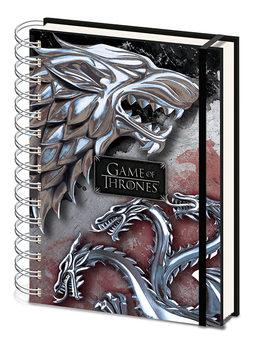 Notitieschrift Game Of Thrones - Stark & Targaryen